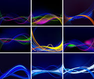 Set of  backgrounds  Stock Images