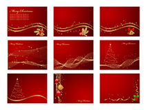 Set backgrounds. With snowflakes, stars and decoration. Vector illustration Royalty Free Stock Image
