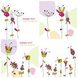 Set of backgrounds. Set of colorful graphic illustrations Royalty Free Stock Photo