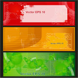 Set backgrounds. Set of backgrounds: red, orange, green Royalty Free Stock Images