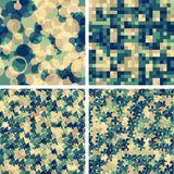 Set of backgrounds. Set of seamless abstract background patterns,  illustration Vector Illustration
