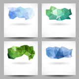 Set of backgrounds with abstract triangles Royalty Free Stock Images