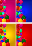 Set backgrounds for birthday Stock Image