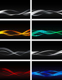 Set of backgrounds on black Royalty Free Stock Photography