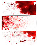 Set of backgrounds with bloodstain Stock Images