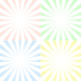 Set of backgrounds with centered symmetrical rays and gradient, Royalty Free Stock Photos