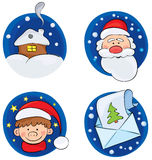 A set of backgrounds Christmas. A set of illustrations -- backgrounds Christmas Royalty Free Stock Images