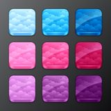 Set of backgrounds with clouds for the app icons Royalty Free Stock Photo