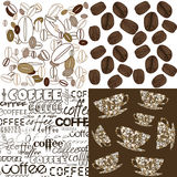 Set of backgrounds with coffee beans Stock Photography