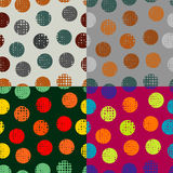 Set of backgrounds colored circles Royalty Free Stock Photo
