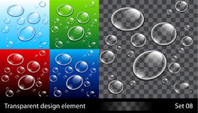 Set backgrounds with colorful bubbles Royalty Free Stock Photography
