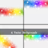 Set of backgrounds Stock Image