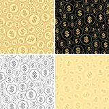 Set of backgrounds with dollars - vector seamless patterns. Set of backgrounds with dollars - vector finance seamless patterns Stock Photos