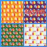 Set backgrounds for Easter Holidays, abstract with easter eggs Stock Photo
