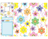 Set of backgrounds and elements for scrapbooking. Illustration for your design Royalty Free Stock Photography