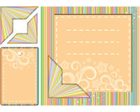 Set of backgrounds and elements for scrapbooking. Illustration for your design Royalty Free Stock Image