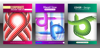 Set of backgrounds with flat dynamic pattern Stock Photos