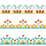 Set of backgrounds with flowers. And Easter eggs Royalty Free Stock Image