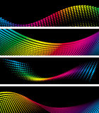 Set backgrounds halftone Stock Photography