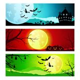 Set of backgrounds for Halloween Stock Photography