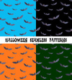 A set of backgrounds for the holiday Halloween, bat, an editable file. Royalty Free Stock Photos
