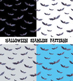 A set of backgrounds for the holiday Halloween, bat, an editable file, four colors. Royalty Free Stock Photos