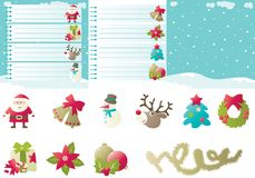 Set of backgrounds and icons for christmas Stock Image