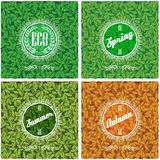 Set of backgrounds with leaves in different seasons. Set of vector backgrounds with leaves in different seasons Stock Photography