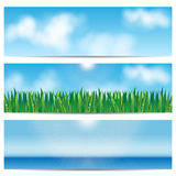 Set backgrounds nature Royalty Free Stock Photos