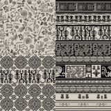 Set of backgrounds with Peruvian patterns Stock Photo