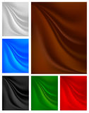 Set backgrounds with pleats on the fabric Stock Photos