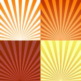 Set of backgrounds ray or abstract sun rays. Set texture ray burst and retro rays background. Vector Royalty Free Stock Images