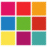 Set of backgrounds ray. Vector sun rays. Vector illustration in flat style Stock Photos