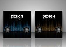 Set of backgrounds. Sound waves. Music Digital Equalizer. vector illustration