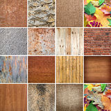 Set of backgrounds and structuresdesign Royalty Free Stock Photography