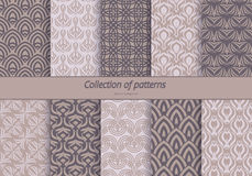 Set of backgrounds with stylized floral pattern Royalty Free Stock Images