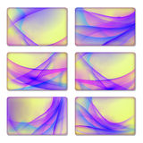 Set of backgrounds templates Royalty Free Stock Image