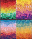 Set of backgrounds with triangles. Stock Image
