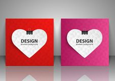 Set of backgrounds for Valentine Day. Vector illustration Royalty Free Stock Images