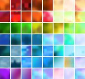 Set   backgrounds. Set of 56 vector backgrounds of different colors Stock Photography
