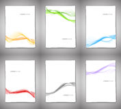 Set of backgrounds with wavy lines. This is file of EPS10 format Stock Photos