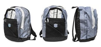 Set of backpack Stock Images