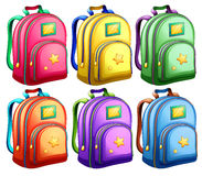 A set of backpacks Stock Photo