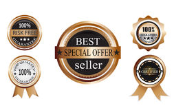 Set Of Badge. For quality and guarantee Royalty Free Stock Photo