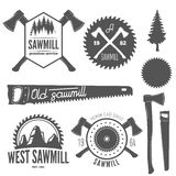 Set of badge, labels or emblem elements for Royalty Free Stock Photos