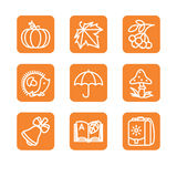 Set with badges - autumn Royalty Free Stock Photos