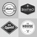 Set of badges, banner, labels and logo for food restaurant, catering. Simple and minimal design. Royalty Free Stock Photos
