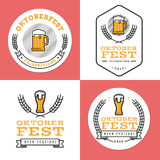 Set of badges, banner, labels and logo for oktoberfest, german beer festival. Simple and minimal design. Set of badges, banner, labels and logo for oktoberfest Stock Photography