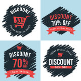 Set of badges, banner, labels for Special offer discount sale price. Design elements. Stock Images