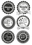 Set of badges for beauty and haidressing salons Royalty Free Stock Photography